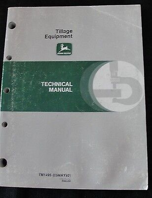 John Deere 610 2810 3710 Plow 885 960 1060 Cultivator 630 635 Disk Repair Manual