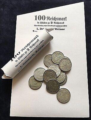 Drittes Reich - 50 Blatt Rollenpapier - 2 Mark Hindenburg Rollpapier Handrollen