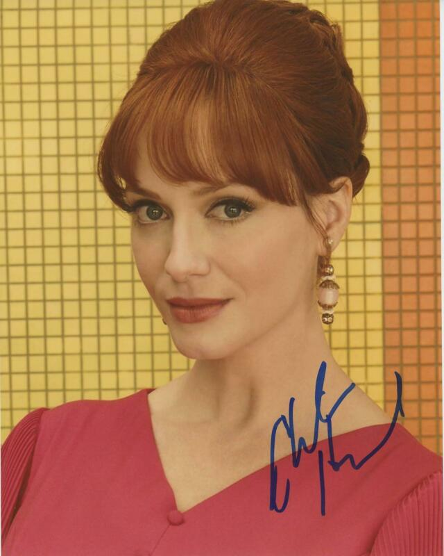 "Christina Hendricks ""Mad Men"" AUTOGRAPH Signed 8x10 Photo B ACOA"