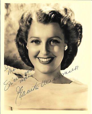 JEANETTE MACDONALD ACTRESS vintage autographed 8x10 photo RP