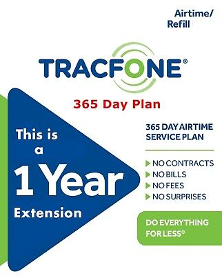 Tracfone  1 Year 365 Days Service Extension Smartphones Android Digital Refill