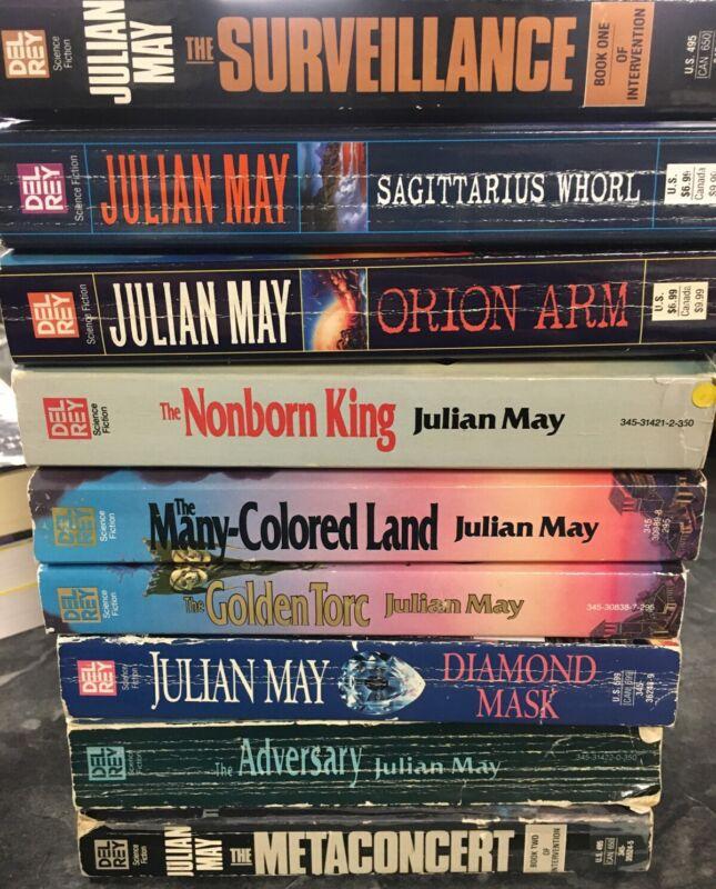 Lot Of 9 Julian May Paperbacks