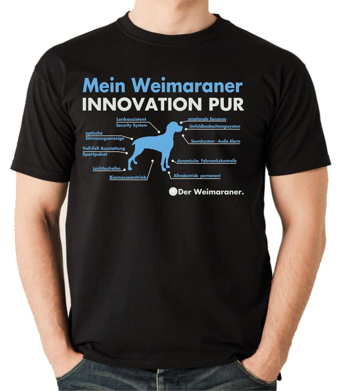 SALE Weimaraner Weimi grey Ghost Innovation lustig Unisex T-Shirt schwarz XL