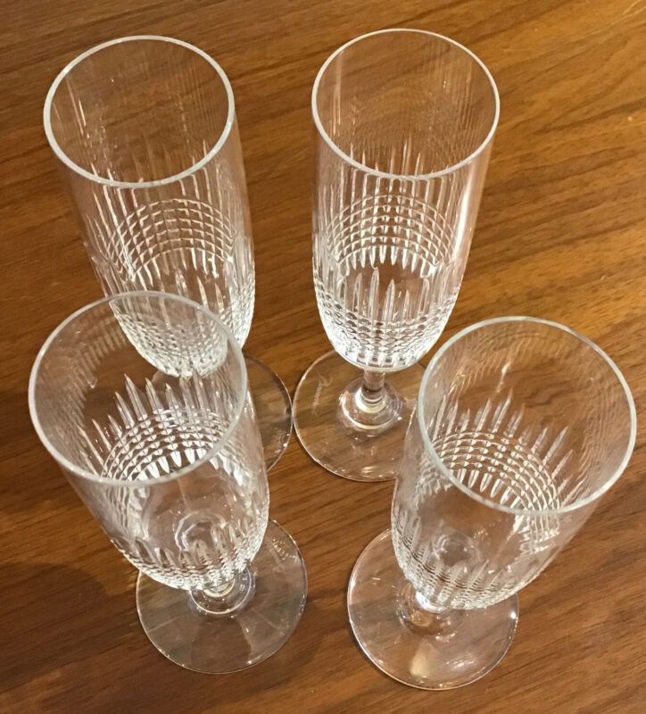 Baccarat Nancy Champagne Flutes 4 Available