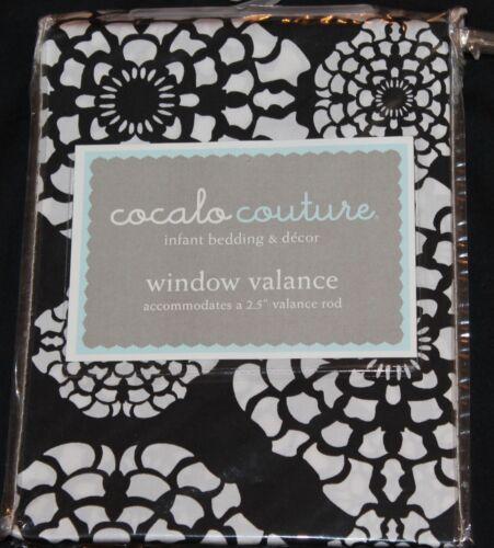 Cocalo Couture Elsa Window Valance 72x18 black white nursery decor new