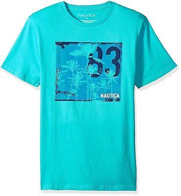 Nautica Men's Short Sleeve Signature Graphic Crewneck T-Shirt Size LARGE