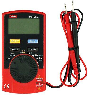 Uni-t 120c Super Slim Pocket Size Handheld Digital Multimeter