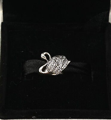 NEW Authentic PANDORA Sterling Silver Majestic Swan Charm 791732CZ