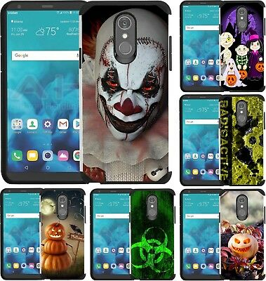 For LG Phoenix 4/3 LG Rebel 4/3 Case Cover Scary Clown Trick or Treat Halloween