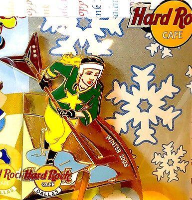 Hard Rock Cafe Dallas Hockey Girl Pin Seasonal Sports Puzzle Winter 2005 LE New