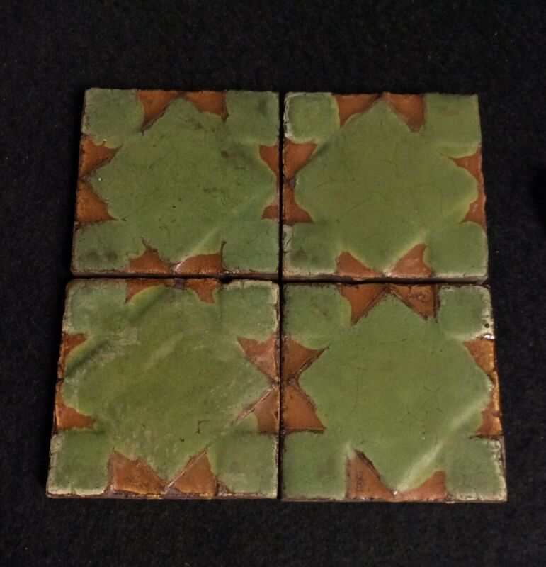 Four(4) Grueby Tiles