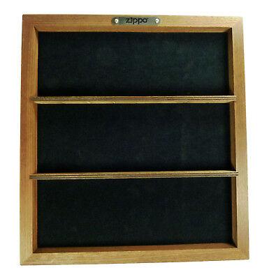 Zippo Display für 12 Feuerzeuge, Stand Display aus Holz , Braun  Neu