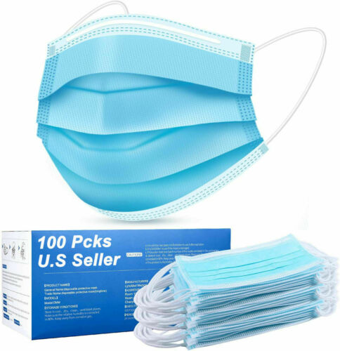 100 Pcs Face Mask Mouth & Nose Protector Respirator Masks 10.99 free shipping