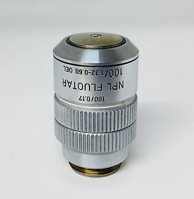 Leitz Npl Fluotar 100x1.32-0.60 Iris 1600.17 Oil Microscope Objective