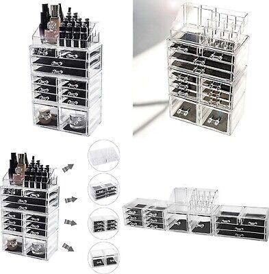 Organizador Maquillaje cosmeticos de acrilico,12 cajones,16 compartimentos,40x24