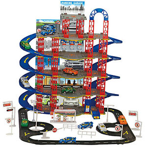 108pc Multi Storey City Car Park Auto Parking Garage Cars Truck Play Set Toy
