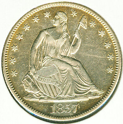 Click now to see the BUY IT NOW Price! 1857 O SEATED LIBERTY HALF DOLLAR   CHOICE AU
