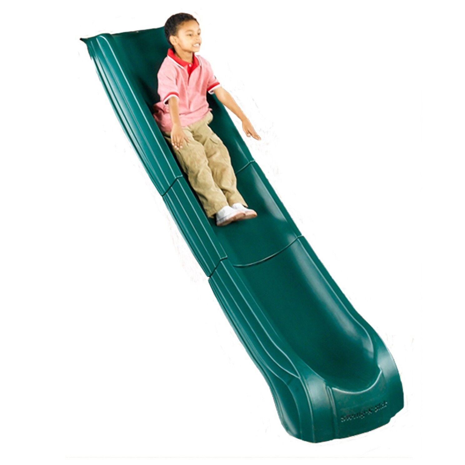 Kids Slide w Wide Handrails Backyard Playset Garden Playgrou