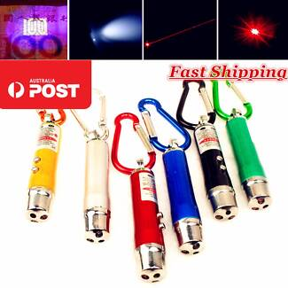 3-in-1-Red-Laser-Light-Pointer-UV-LED Strong Powerful Small Sydney City Inner Sydney Preview