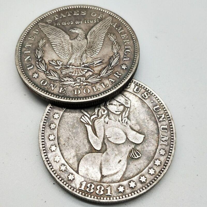 New 1881 American Morgan Silver Dollar Silver Round Sexy Wanderer Creative
