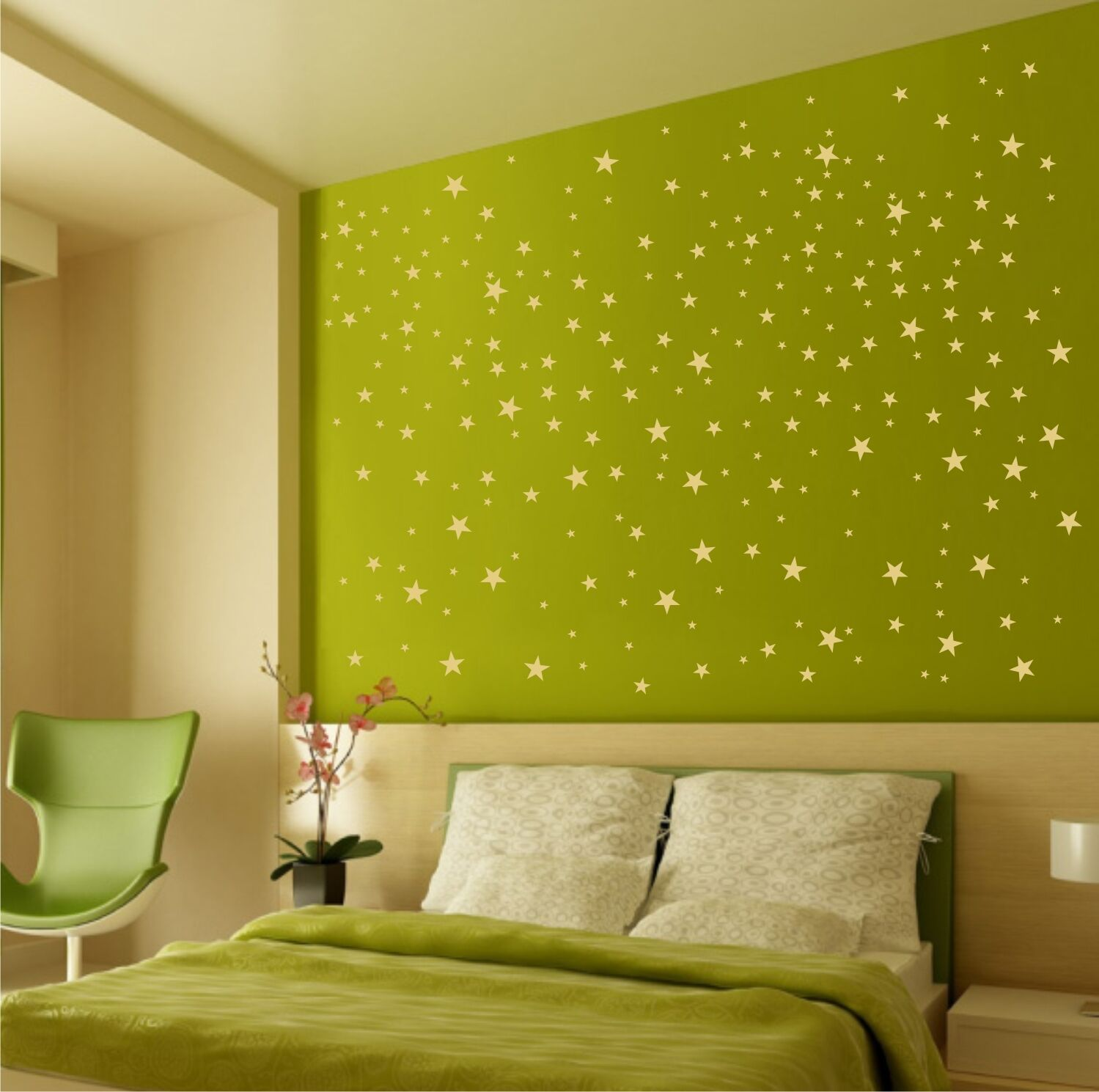 Wall Vinyl / FALLING STARS / Removable Gold Decals / DIY family art ...