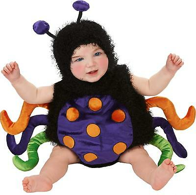 Baby's Infant Romper Cute Bug Spider-Multi Color Halloween Costume Sz 0-6 - Spider Baby Costume