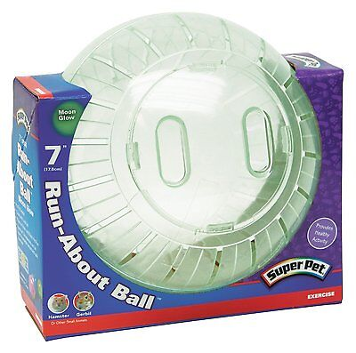 """Super Pet Run-About 7"""" Hamster Exercise Ball, Moon Glow, Pet Gerbil Toy, New"""
