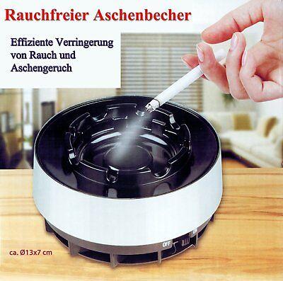 ASCHENBECHER rauchfrei elektrischer Sturmaschenbecher Windaschenbecher Ascher 25