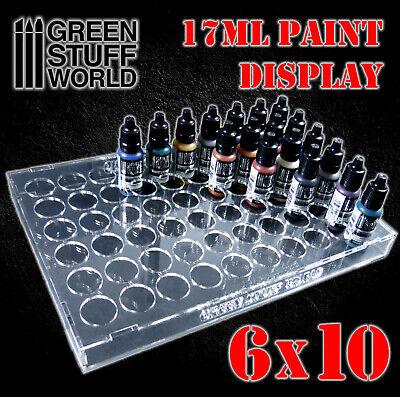 Expositor de pinturas 17ml (6x10) - display metacrilato botes estanteria hobby