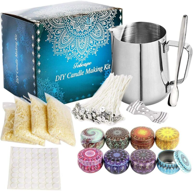 Candle Making Kit Supplies Soy Wax DIY Candle Craft Tools Including Pouring Pot