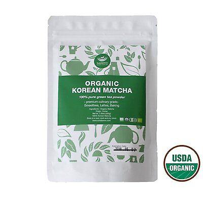 100% Pure Organic Matcha Green Tea Powder 200g Premium Culinary, USDA EU JAS