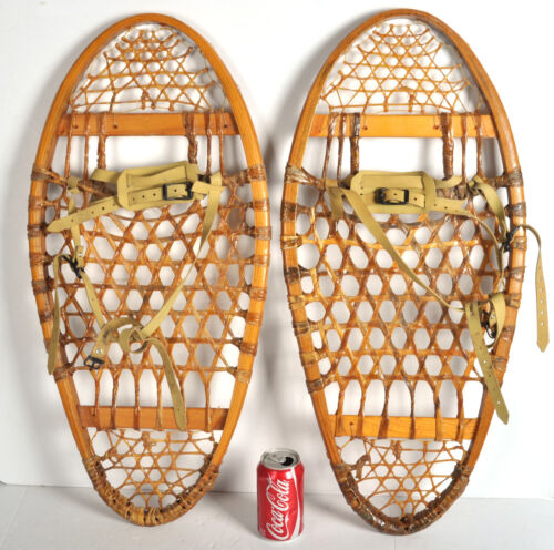 Vintage Snowshoes 13x29 Weight 125/175 made Canada Wood Decor