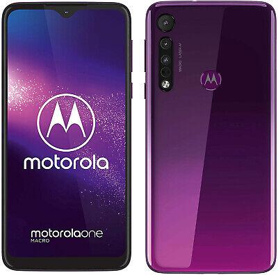 New Motorola Moto One Macro Ultraviolet 64GB LTE 4G Andr 9.0 Unlocked Sim Free