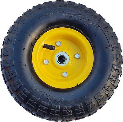 Luft Rad Bollerwagen Ø 260 mm 4.10/3.50-4 Ersatzrad Reifen Sackkarre Felge gelb