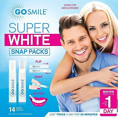 Go Smile Super White Teeth Whitening System Snap Pack Kit (14) ()