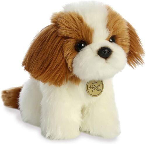 "New AURORA MIYONI Soft Stuffed Plush Toy SHIH TZU Animal PUPPY DOG 11"" Tan Cream"