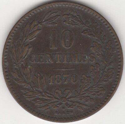 1870 Luxembourg 10 Centimes***Collectors***(3)