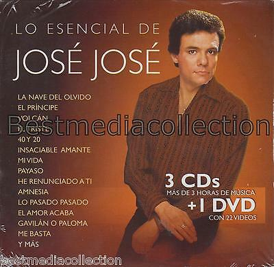 Lo Esencial De Jose Jose 3 CD + 1 DVD NEW Gavilan O Paloma 82 Canciones SEALED