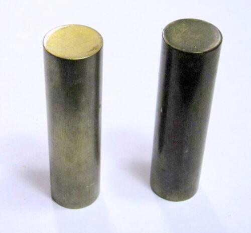 Vintage Heavy 5oz. Brass Tonebar Slide PAIR of 2- 1930s Stevens USA Made Rare