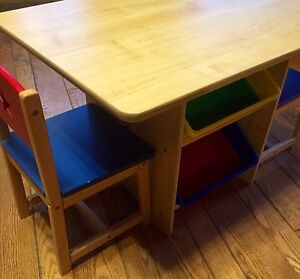 Kidkraft Table and Chair set with Storage Bins!