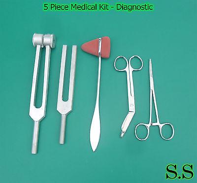 5 Piece Medical Kit - Diagnostic Emt Nursing Surgical Ems Student Paramedic