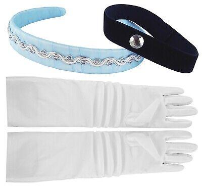 Little Pretends Cinderella Childs Headband, Choker & Gloves Set, White/