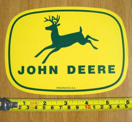 "2 JOHN DEERE FADE RESIST VINYL DECAL STICKERS CLASSIC 4 LEG DEER FARM 5.75X4.5"""