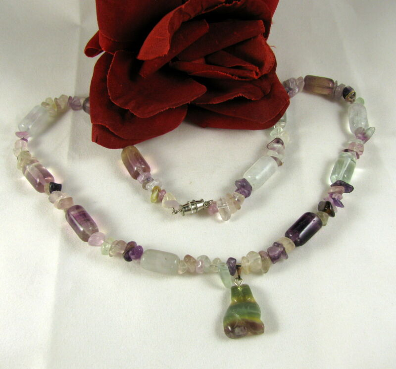 Artisan Fluorite Beaded Cat Necklace FERAL CAT RESCUE