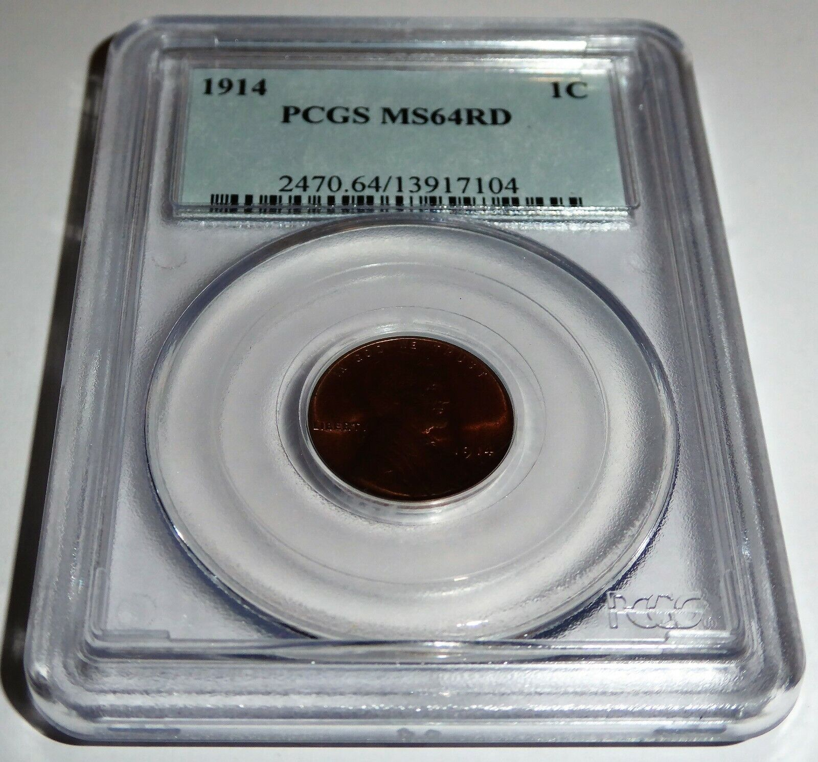 1914 1C PCGS MS64RD Lincoln Wheat Small Cents One Penny Cent Coin 💎