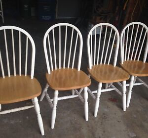 4 MATCHING WOODEN CHAIRS, good shape,ALL/$25