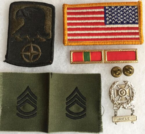 U.S. Army Patches Rifle Award Medal and MORE!@!