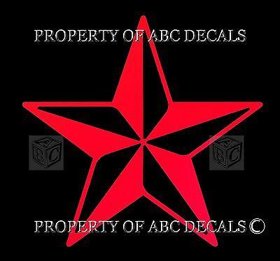 Tattoo Nautical Stars (VRS Nautical star Punk Tattoo Single Vinyl Car Decal Wall Sticker )