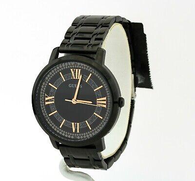 Guess Watch Women's Black Stainless Steel Bracelet Watch U0933L4, New