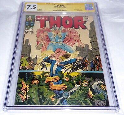 Thor #138 CGC SS Signature Autograph STAN LEE 1st Appearance Ogur Ulik Appear 🔥